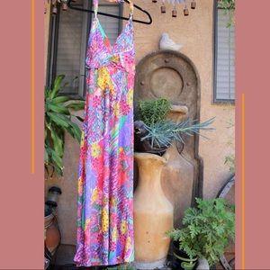 Christina Love full length halter dress